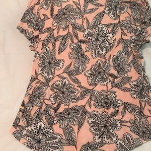 Loft pink floral shirt.